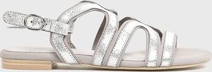 Sandały Caprice ze skóry z płaską podeszwą w stylu casual