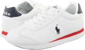 Buty sportowe POLO RALPH LAUREN ze skóry ekologicznej z płaską podeszwą w sportowym stylu