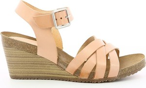 Sandały Kickers w stylu casual na średnim obcasie ze skóry