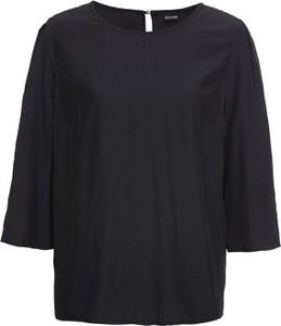 Czarna bluzka bonprix BODYFLIRT w stylu casual z długim rękawem