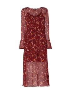 Czerwona sukienka Tommy Hilfiger w stylu boho z długim rękawem