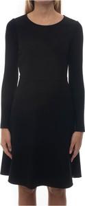 Czarna sukienka Pennyblack z dżerseju z okrągłym dekoltem