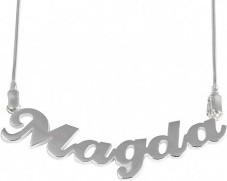 Jaspis Łańcuszek z imieniem MAGDA