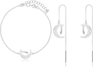 Irbis.style komplet srebrnej biżuterii - kolczyki i bransoletka