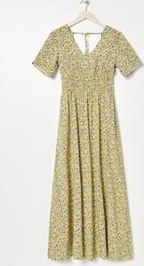 Sukienka Sinsay z krótkim rękawem z dekoltem w kształcie litery v