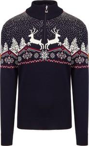 Granatowy sweter Dale of Norway w młodzieżowym stylu z wełny