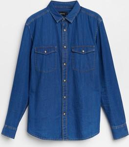 Granatowa koszula Reserved z bawełny