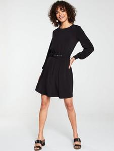 Sukienka V by Very z okrągłym dekoltem z długim rękawem