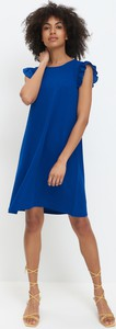 Niebieska sukienka Mohito mini prosta