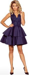Niebieska sukienka NUMOCO rozkloszowana mini