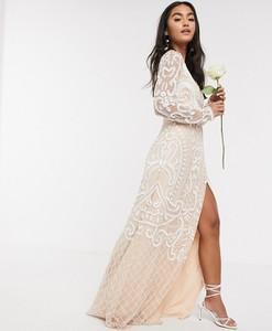 Sukienka Frock And Frill z długim rękawem maxi
