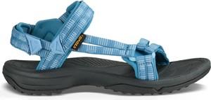 Niebieskie sandały Teva w sportowym stylu na rzepy