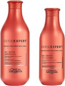 L'Oreal Paris Loreal Inforcer Zestaw do włosów łamliwych   Szampon 300ml + Odżywka 200ml - Wysyłka w 24H!