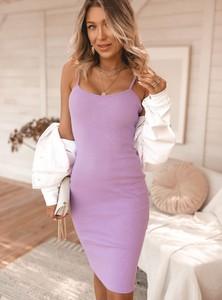 Fioletowa sukienka SELFIEROOM mini z bawełny