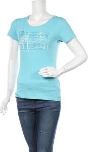 Niebieska bluzka Napapijri z krótkim rękawem w sportowym stylu