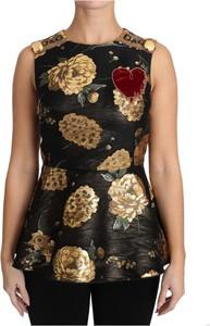 Brązowa bluzka Dolce & Gabbana