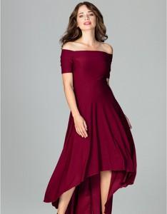 Czerwona sukienka LENITIF z krótkim rękawem