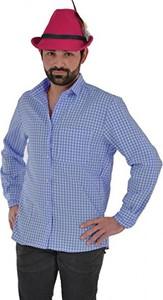 Niebieska koszula Partychimp w stylu casual z długim rękawem