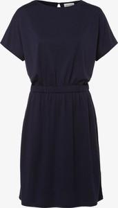 Granatowa sukienka ARMEDANGELS rozkloszowana mini z krótkim rękawem
