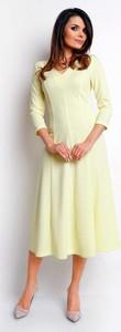 Sukienka Nommo rozkloszowana z długim rękawem midi