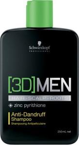 Schwarzkopf [3D] Men Anti Dandruff Shampoo | Szampon przeciwłupieżowy dla mężczyzn 250ml - Wysyłka w 24H!
