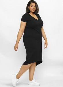 Sukienka Freeshion z krótkim rękawem midi w stylu casual