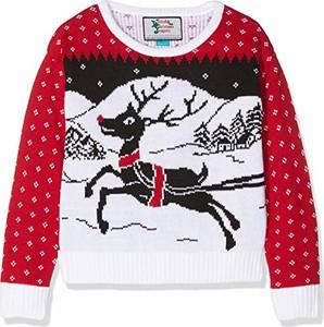 Sweter British Christmas Jumpers w bożonarodzeniowy wzór w stylu casual
