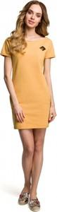 Żółta sukienka MOE z dzianiny