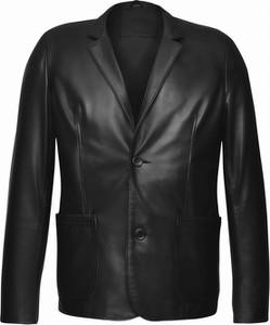 Czarna kurtka V.rooka ze skóry w stylu casual