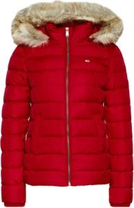 Czerwona kurtka Tommy Jeans w stylu casual krótka