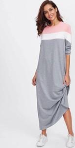 Sukienka Duuf z długim rękawem w stylu casual z dresówki