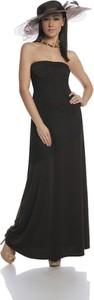 Sukienka Fokus rozkloszowana w stylu klasycznym bez rękawów