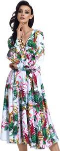 Sukienka Lemoniade kopertowa z dekoltem w kształcie litery v z długim rękawem
