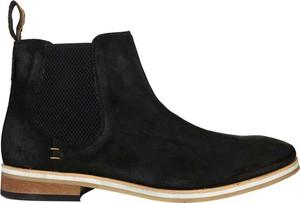 Brązowe buty zimowe Superdry ze skóry