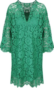 Zielona sukienka Valentino mini w stylu casual z dekoltem w kształcie litery v
