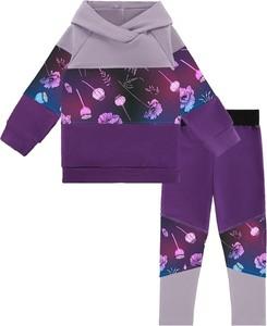 Fioletowy dres dziecięcy Mammamia z bawełny