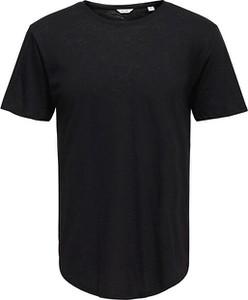 Czarny t-shirt Only&sons z krótkim rękawem