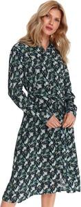 Sukienka Top Secret z kołnierzykiem z długim rękawem mini