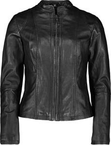 Czarna kurtka 7eleven krótka z satyny w rockowym stylu