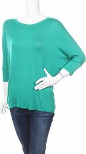 Turkusowa bluzka Faded Glory z okrągłym dekoltem z długim rękawem w stylu casual