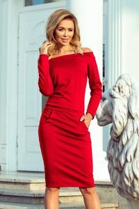 Sukienka NUMOCO z długim rękawem z odkrytymi ramionami