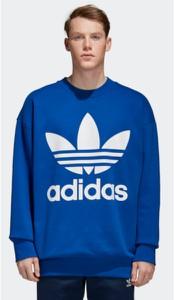 Niebieska bluza Adidas w street stylu z bawełny