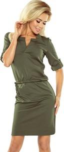Zielona sukienka NUMOCO z kołnierzykiem mini