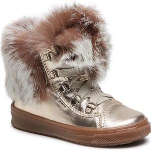 Złote buty dziecięce zimowe Bartek