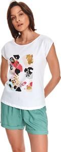 T-shirt Drywash w młodzieżowym stylu z bawełny z okrągłym dekoltem