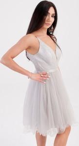 Sukienka Butik Ecru gorsetowa na ramiączkach