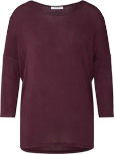 Czerwona bluzka Pieces z długim rękawem z dżerseju