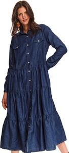 Sukienka Top Secret w stylu casual maxi z długim rękawem