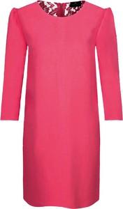 Sukienka Elisabetta Franchi prosta mini z długim rękawem