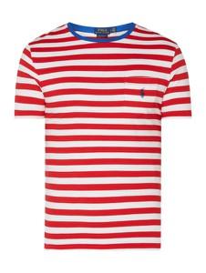 Czerwony t-shirt POLO RALPH LAUREN z bawełny z krótkim rękawem